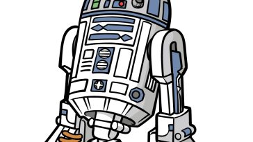 how to draw R2D2 image