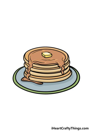 how to draw a pancake image