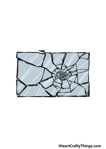 how to draw broken glass image