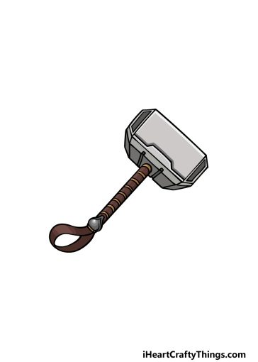 how to draw Thor's hammer image