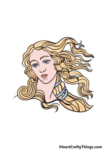 how to draw Aphrodite image