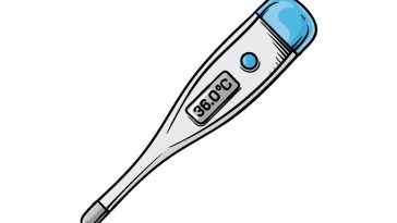 how to draw a thermometer image
