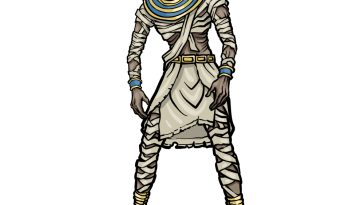 how to draw a Mummy image
