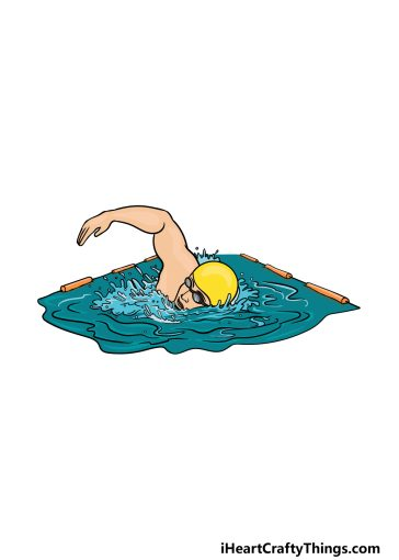 how to draw swimming image