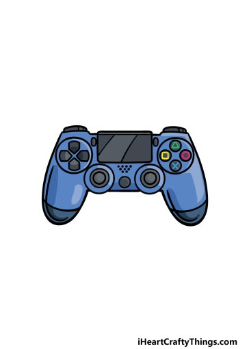 how to draw PS4 Controller image