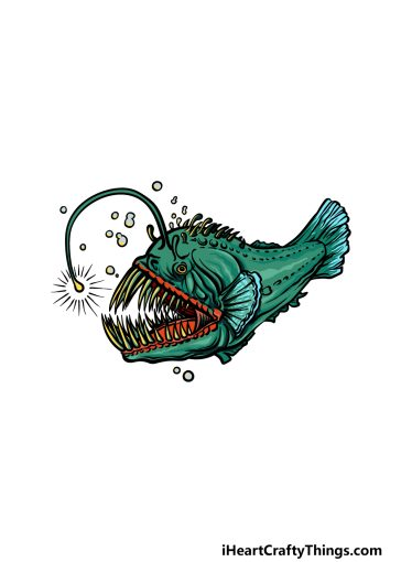how to draw an Angler Fish image