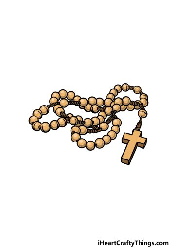 how to draw a rosary image