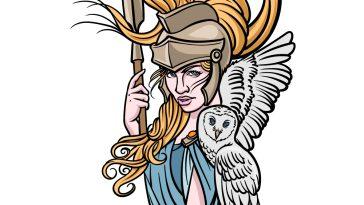 how to draw Athena image