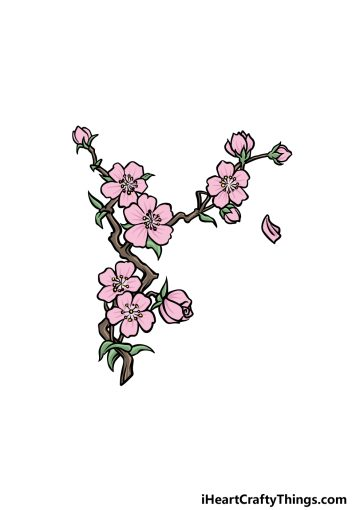 how to draw a Japanese flower image