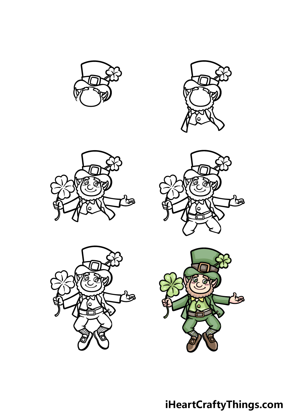how to draw St. Patrick's Day in 6 steps